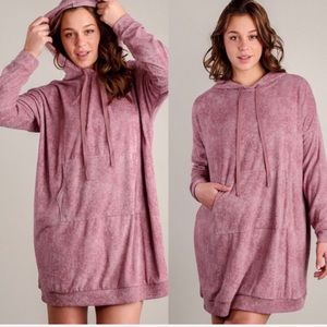 Peach love California Hoodie Sweater Dress
